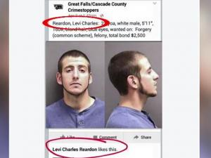 Man Arrested After He Likes His Own Wanted Poster On Facebook
