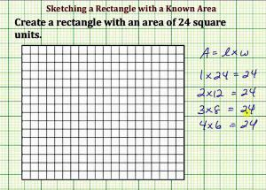 Sketch A Rectangle With A Given Area