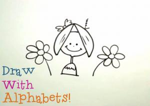 Draw With Alphabets