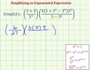 Simplify A Product Of Two Fractions Written With Exponential Expressions