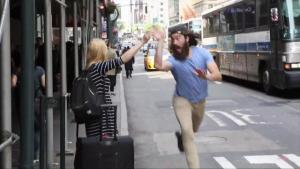 New Yorker High Fives People Trying To Hail A Cab
