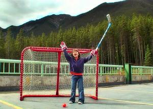 Playing Road Hockey