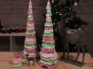 Cupcake Wrapper Trees