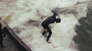 Riding The Icy Wave River Surfing In Munich