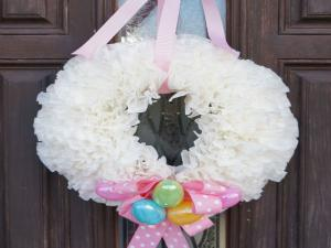 Free Diy Easter Coffee Filter Wreath