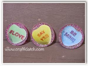Conversation Heart Coasters