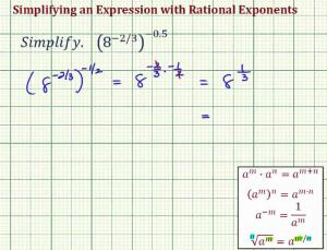 Simplify An Expression With Two Negative Rational Exponents