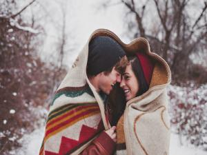 Cuddling In Snow