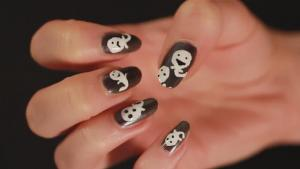 A Guide To Doing Ghost Nail Art 10036126 By Videojug