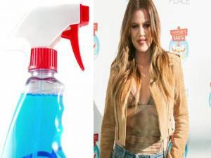 699240 Khloe Kardashian Secret Diet Trick Sprays Windex Like Cleaner On Food
