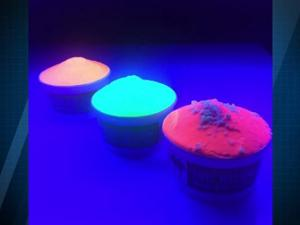Glow In The Dark Ice Cream Makes It Easy To See Dribbled On Your Clothes