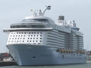 Sky Dive On Board Giant Cruise Ship
