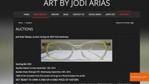 Jodi Arias Auctions Glasses For Charity