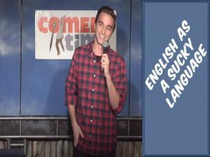 Stand Up Comedy By Joey Barone English As A Sucky Language