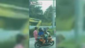 Bike Overload Efficient Yet Dangerous Way To Travel