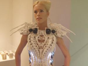 3 D Printed Spider Dress Attacks If Your Come Too Close