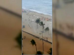 Small Tornado Gave These Beach Goers A Big Scare