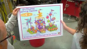 Goldiebloxs Girl Powered Spinning Machine In Macys Thanksgiving Day Parade