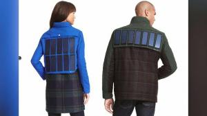 Solar Powered Jacket Charges Phones