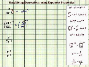 Simplify Expressions Using Exponent Properties