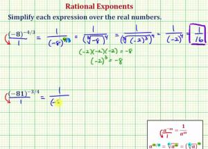 Simplify An Expression With A Negative Rational Exponent