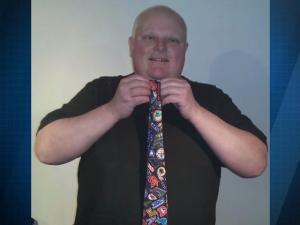 Rob Fords Crack Tie Is Selling For Big Bucks On Ebay