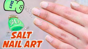 Salt Nail Art