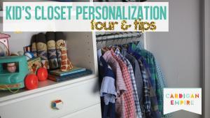Closet Personalization
