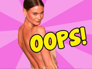 Behati Prinsloos Red Carpet Nip Slip Covered Elegantly