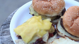 Fast Blast Elk Nacho Burgers on the Island Grillstone