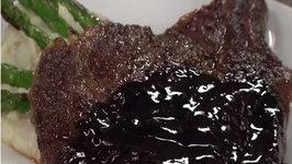 Blackened Steak and Blue Cheese Wine Sauce with Carnivor Cabernet Sauvignon