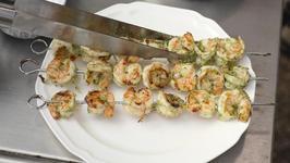 Grilled Pesto Shrimp Mediterranean Salad
