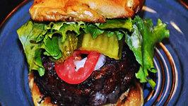 KIRBBQ Rubbed Beef and Pork Stuffed Burgers