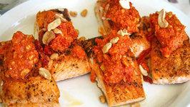 Salmon with Romesco Sauce