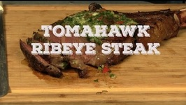 How To Cook A Tomahawk Ribeye Steak With A Chimichurri Butter On A Weber Grill