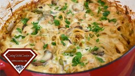 Creamy Chicken Tetrazzini  Casserole Recipe