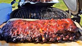 Candied Jalapeno BBQ Ribs - Kamado Joe Classic