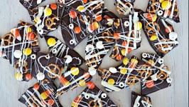 Dessert Recipe Spooky Halloween Bark