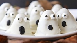 Easy Halloween Oreo Ghost Truffles