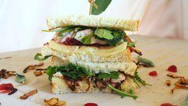 Sandwich Recipe- Turkey, Caramelized Onion And Cranberry Sandwich