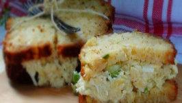 Pina Colada Chicken Salad Sandwich on Pineapple Quick Bread