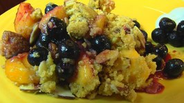 Betty's Late Summer Peach and Blueberry Crumble
