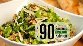 90 Second Parmesan Celery Salad