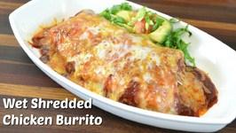 Wet Shredded Chicken Burrito Recipe W Vegetarian Variation  Crock Pot Recipe