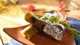 Thepla Kathi Roll Recipe  How to Make Thepla Kathi Roll