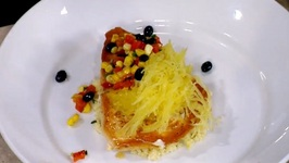 Chef Adam LaFave- SwordFish with a Citrus Herb Couscous, Spaghetti Squash And Black Bean Salsa