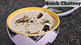 Cashew Chutney  Quick Fix Chutney - Side For South Indian Breakfast  Idli, Dosa, Upma Accompaniment