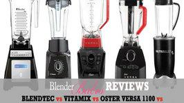 Blendtec vs Oster Versa vs Vitamix S30 vs Nutribullet RX - Dr Oz Green Juice