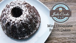Mini Chocolate Bundt Cakes (For Two)