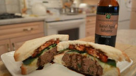 How to Cook Hamburgers with Mozzarella and Napa Valley Balsamic Drizzle